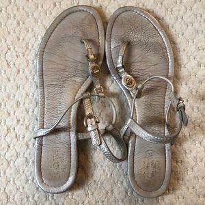 Coach gold sandals